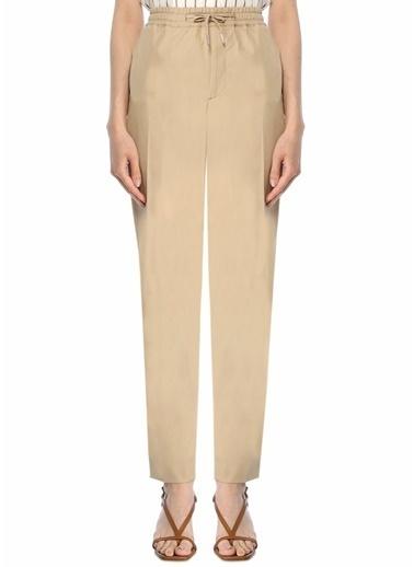 Sandro sandro dar kesim dikiş desenli bağcık detaylı kadın pantolon Bej